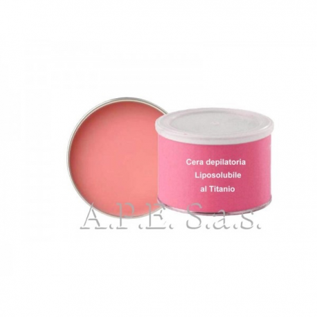 Cera depilatoria liposolubile al titanio rosa 400 ml