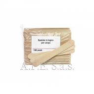 Spatole legno corpo 100 pz. per cera