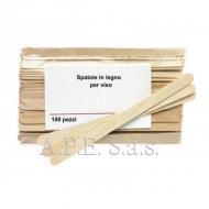 Spatole legno viso 100 pz. per cera