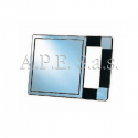 Specchio rettangolare Silver con manico