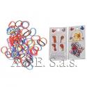 Elastici Silicone Mini 30 pezzi Colorati